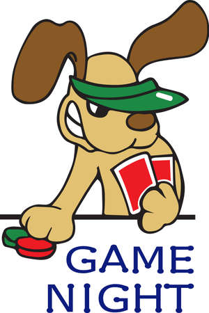 A hilarious poker dog will make a great gaming friend. Illusztráció