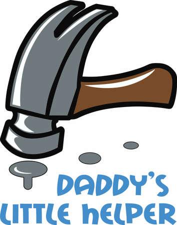 knocker: Handymen always need a good hammer. Illustration