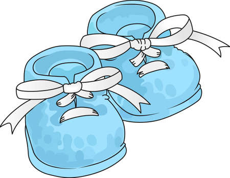 These adorable baby shoes are perfect for the baby shower.  A cute design from Great Notions. Stock Vector - 45281967