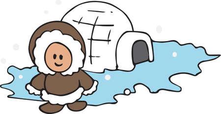 eskimo: A little Eskimo will be nice on a winter project.
