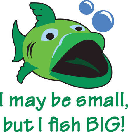 big fish: Fishermen always want the big fish. Illustration