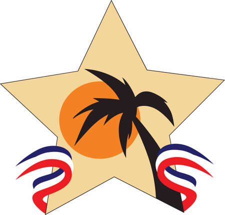 gulf: Gulf war veterans can show off their patriotism with this star. Illustration