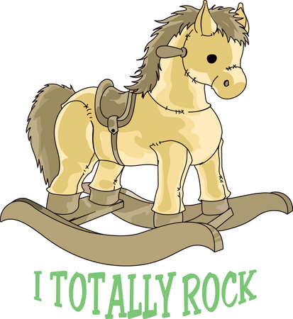 horse cock: Planning a baby shower will not be complete without this adorable design.  Add it to your favorite items for party favors.  They will love it! Illustration