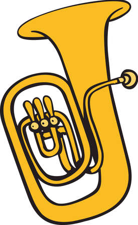 Diese Tuba-Design ist perfekt für Ihre Band Student. Standard-Bild - 45282394