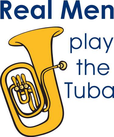Diese Tuba-Design ist perfekt für Ihre Band Student. Standard-Bild - 45282459