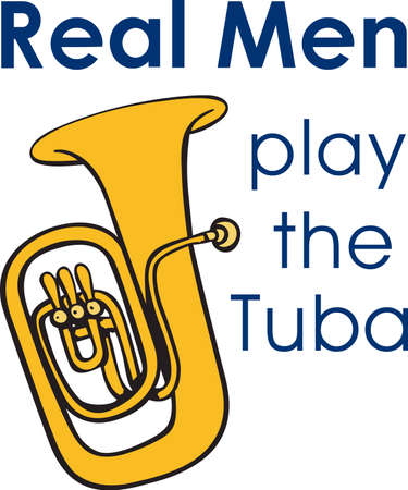 tuba: This tuba design is perfect for your band student.