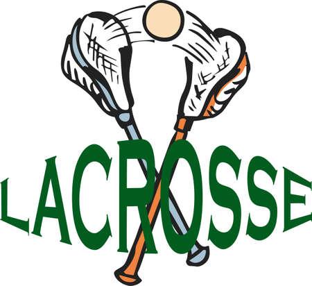 crosse: Love the sport of lacrosse!    Illustration