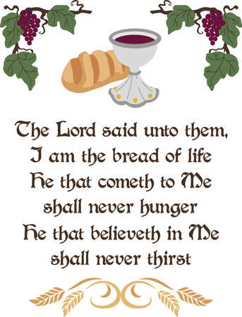 grace: Have this lovely communion design to grace any table. Illustration