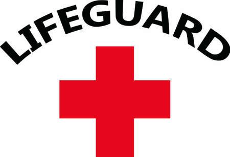 cruz roja: Los salvavidas será mostrar el orgullo de su profesión con esta cruz roja.