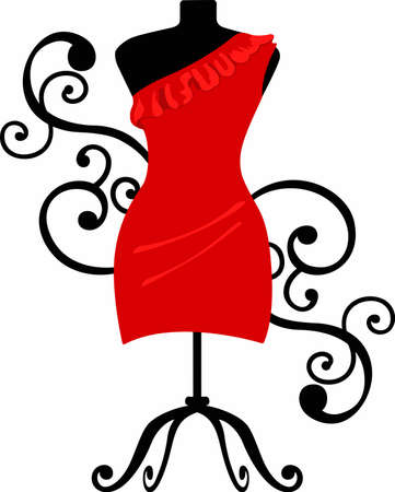 Fashion lovers will enjoy a lovely dress form. Stock Vector - 45284419