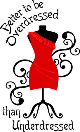 dress form: Fashion lovers will enjoy a lovely dress form. Vectores