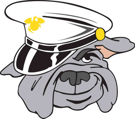 armed force: Marines love their mascot and wear him with pride.