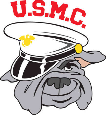 corps: Marines love their mascot and wear him with pride.