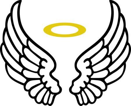 천사의 날개는 종교적인 프로젝트에 대한 멋진 장식입니다.