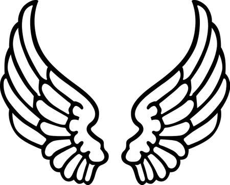 Angel wings are a wonderful decoration for a religious project.