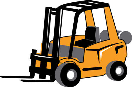 Men will like a forklift for a construction themed project.