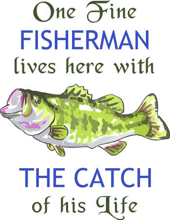 bass fish: Fishermen will love a nice bass fish.