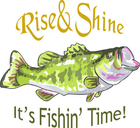 Fishermen will love a nice bass fish. Get this design from Great Notions. Zdjęcie Seryjne - 45292444