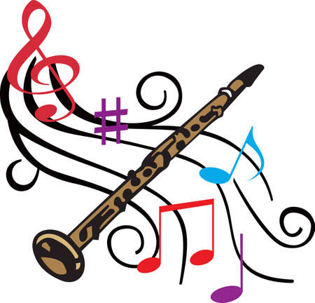 clarinet: This clarinet design is perfect for your band student.