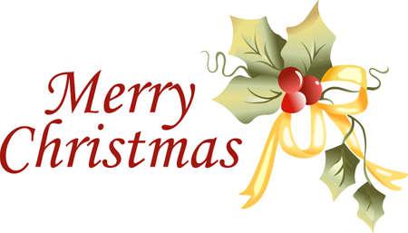 Envoyer acclamations de vacances avec ces beau Noël de houx.