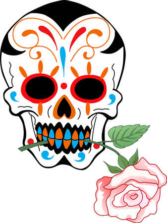 addition: Skulls are the perfect addition for Halloween.  Illustration