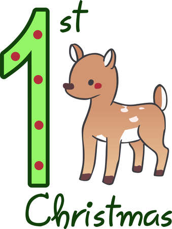 fawn: Children will like a sweet little fawn. Great design for Christmas decorations.
