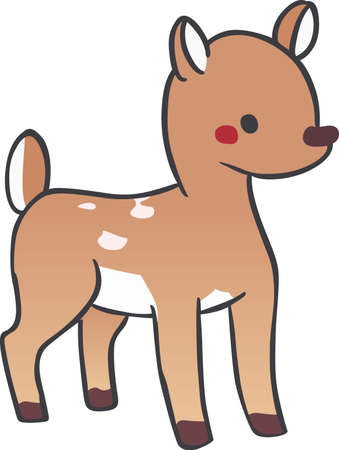 Children will like a sweet little fawn. Great design for Christmas decoration.