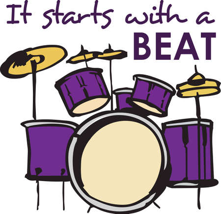 This percussion design is perfect for your band student.    Çizim