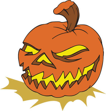 A pumpkin is the perfect decoration for Halloween.