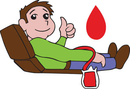 arm chair: Be a hero by giving blood.