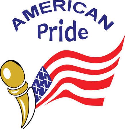 Fly the American flag on all patriotic holidays. 版權商用圖片 - 45293209