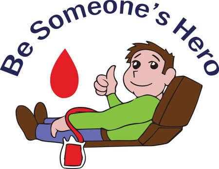 Wees een held door bloed te geven.