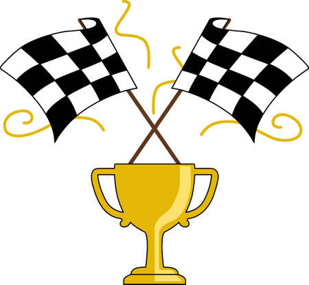 motorsports: Race fans will love these checkered flags. Illustration