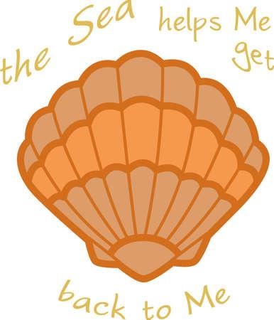 Ein Strandtuch oder eine Tasche mit einer Muschel Dekoration wunderbar aussehen. Standard-Bild - 45293287