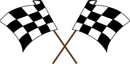 motorsport: Race fans will love these checkered flags. Illustration
