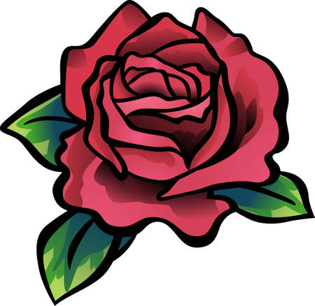 Roses are a wonderful decoration for any project. Illustration