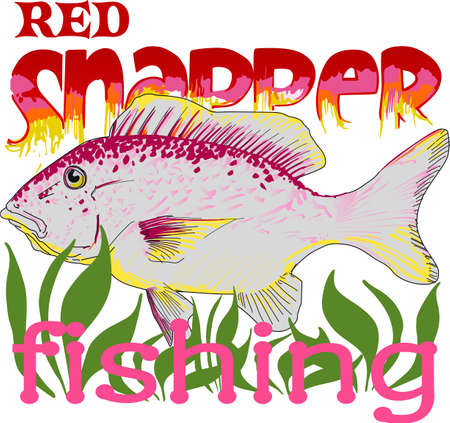 PG70396   -   RED SNAPPER FISHING Dont forget this cute design when you go fishin.  This design is perfect to take with you when you go.  Everyone will love it!