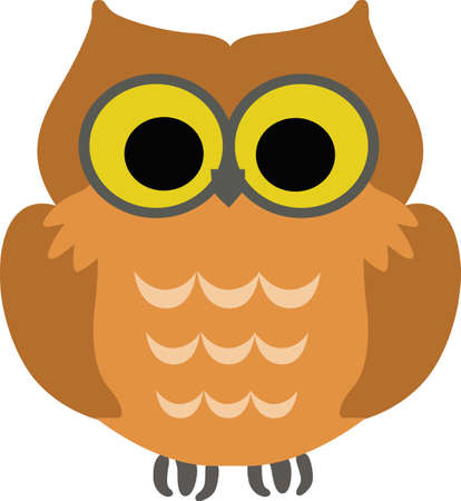 nocturnal animal: A cute owl is perfect for a childs blanket.