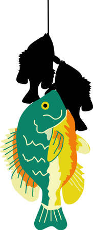 sunfish: Any fisherman would like to catch this fish. Great design for beach wear. Illustration