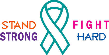 Display your support for a cure for cancer with an awareness ribbon. Ilustracja