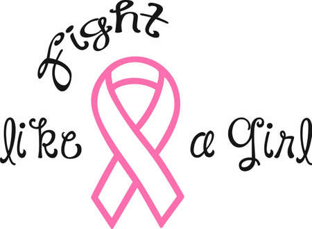 Display your support for a cure for cancer with an awareness ribbon. Ilustração