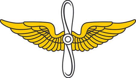 insignia: Ponga las alas de piloto en un sombrero o una camisa.
