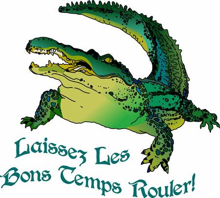 marsh: Use this Aligator design for your next reptile project