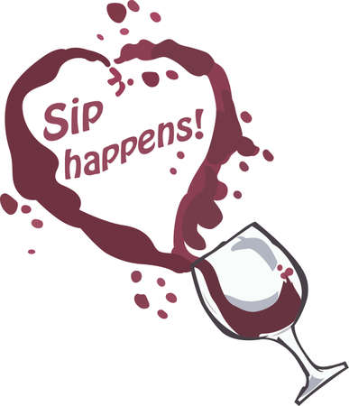 sip: Wine drinkers will like this cute spilled glass.