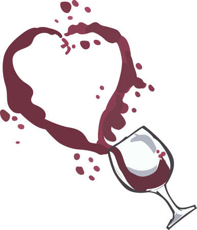 spilled: Wine drinkers will like this cute spilled glass.