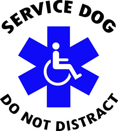 nice service use a nice sign to let people know not to disturb a service dog