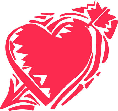 Looking for a cool Valentines gift.  Look no further than this cupid arrow heart.
