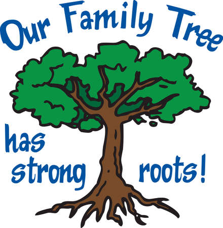 family history: This beautiful image is perfect for the genealogist to display their family tree.  Get these designs from Great Notions.