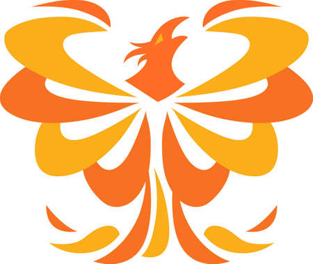 mythological character: A beautiful phoenix will be a wonderful design on any project.