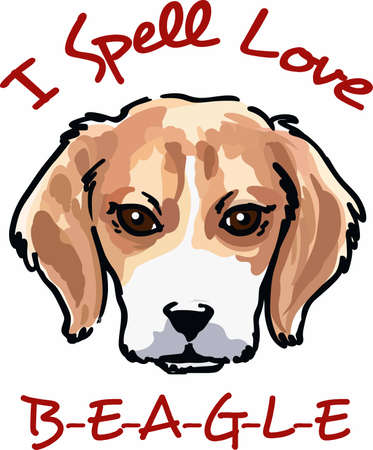 Show your love for your beagle with this cute puppy.